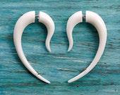 Fake Gauge Earrings Hook Drop Earrings Tribal Earrings - Fake Gauges Plugs - FG095 B G1