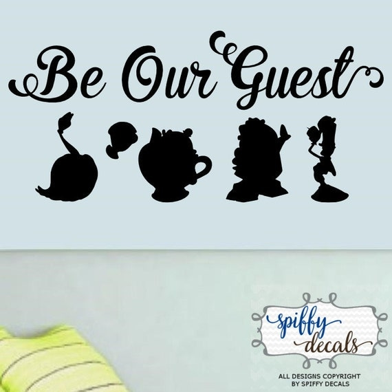 Be Our Guest Beauty And The Beast Vinyl Wall Decal Sticker
