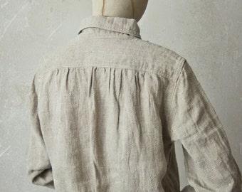 LINEN SHIRT DRESS   custom length