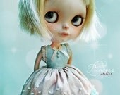 SPRING TENDERNESS Ooak BLYTHE Dress By Odd Princess Atelier, Shabby Chic, Hand Made, New Collection, Special Outfit