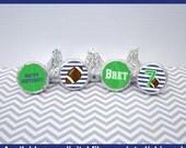 Football Chocolate Kiss Stickers - Football Stickers - Sports Stickers - Sports Candy Kiss Sticker - Digital & Shipped Available
