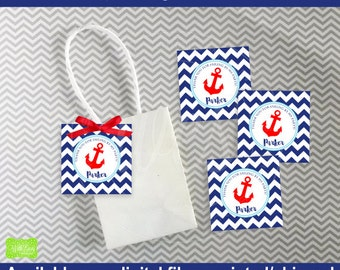 Nautical Favor Tags - Sailing Favor Tags - Nautical Thank You Tags - Sailing Gift Tag - Digtal & Printed
