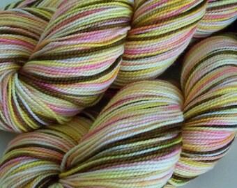 Hand Dyed sock yarn, Superwash Merino, Nylon Sock Yarn, 400 yds, fingering weight 2ply, hand dyed
