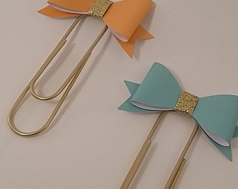 """Bow Paper Clips, Jumbo Planner Paper Clips, """"A Girl Around the World"""""""