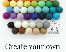 Pom Pom Garland- Customize your own Garland- 50 colors- Nursery Decor- Garland- Felt Ball garland- Felt Ball Nursery Garland