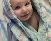 Fair Isle Stripe Baby Blanket - Hawthorne Threads, Minky Blanket