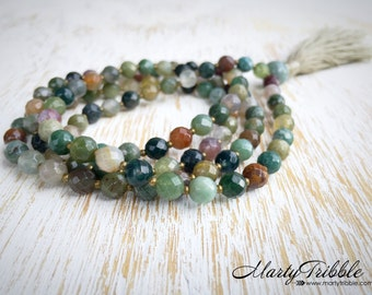 Wrist Wrap Mala, Stretchy Mala Beads, Wrist Mala, 108 Wrap Mala, Yoga Beads, Buddhist Prayer Beads, Wrap Bracelet Mala, Yoga Wrap Bracelet
