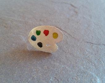 paleta pintor, pain,  palette, pintura,  jewelry, earrings,  anillo, silver,  plata