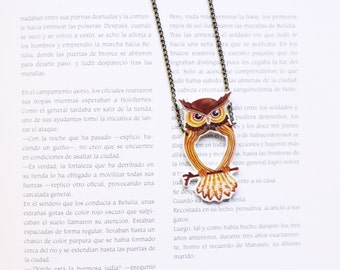 Holey owl necklace