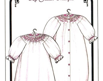 Smocked Baby Nightgown or Bunting by Judith Marquis