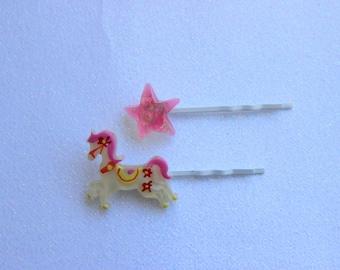 Kawaii Carousel Hair Pin Set
