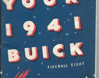 1941 Buick Fireball Eight Owners Manual