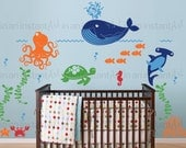 Ocean Friends, Under the Sea Wall Decal for Nautical Theme Nursery, Kids or Childrens Room 036