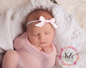 Pink Baby Headbands - Newborn Headbands - Baby Girl - Baby Bow - Baby Girl Headbands - Newborn Bow Headband - Baby - Headbands for Baby