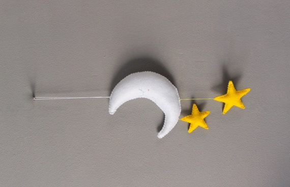 Felt Moon and Stars Mobile