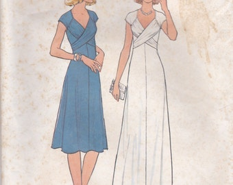 Awesome Cross Front Dress Pattern Simplicity 7805 Size 10