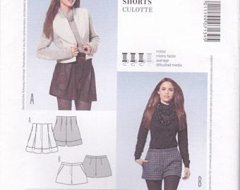 Tailored Shorts Pattern Burda 7139 Sizes 8 - 18 Uncut