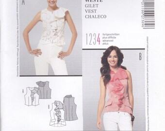 Ruffled Sleeveless Blouse Pattern Burda 7369 Sizes 10 - 22 Uncut