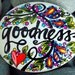 goodness / painted rocks / painted stones / God is good / rock art / words in stone / all things beautiful / small artwork / colorful /rocks