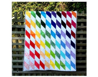 Rainbow Diamonds Baby Quilt - PDF pattern