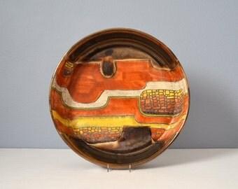 Vintage Eduardo Vega Large Ceramic Round Bowl