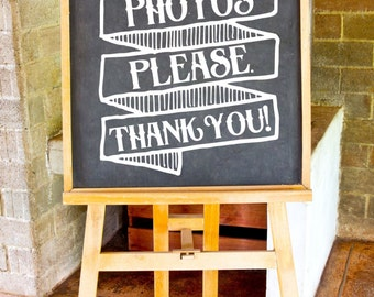 Unplugged Ceremony Decal, No Photos Please, Wedding Vinyl, DIY Wedding Sign, DIY Bride, Unplugged Wedding Sign, Chalkboard Wedding