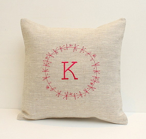 Decorative pillow Personalized cushion pillow case Monogrammed