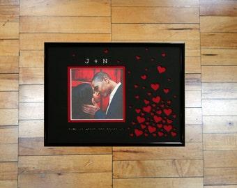 Custom Personalized Wedding or Engagement Photo Frame