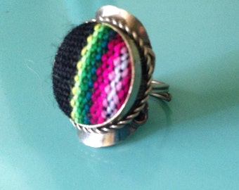 Textile Fabric Rings by Roupolimama