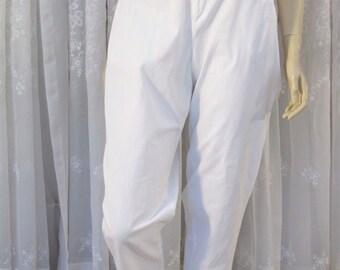 Vintage 90's Sun River Essentials white cotton denim pants size 10