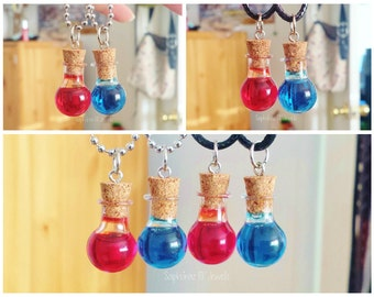 Health/ Mana Pot/ Potion Necklace/ Charm