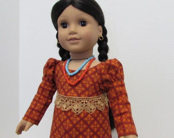 "1810 -1820""s Dress in fall colors for your 18"" American Girl Dolls"