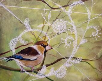 """Original Art: """"Little Bird"""""""