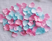 Pink and Blue, Custom Petals, Confetti, TableScatter, Pastel, Wedding Decor, Fake Petals, Artificial petals, Fabric Flowers, Heart Shaped