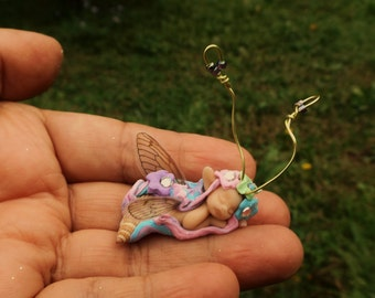 sweet fairy fairie shell  tiny  ooak