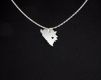Bosnia Necklace - Bosnia Jewelry - Bosnia Gift