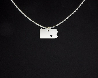 Pennsylvania Necklace - Pennsylvania Jewelry - Pennsylvania Gift