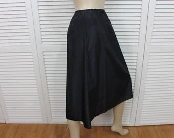 Vintage Olga Half Slip Black Acetate Size Small Rare