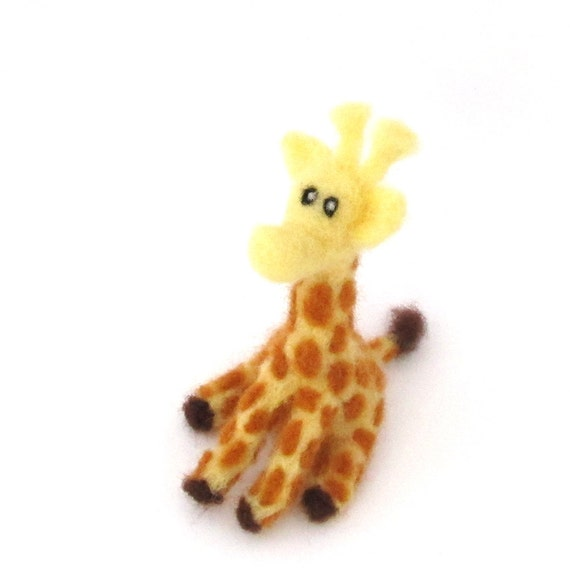 Needle felted Giraffe - felt animal - Cute wool felt giraffe