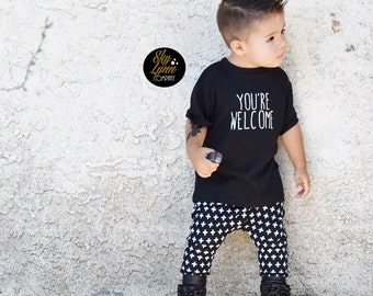SALE Screen Printed You're Welcome Shirt or Bodysuit Toddler & Baby Sizes