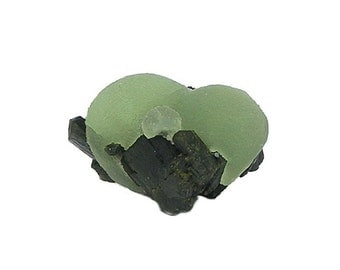 Green Prehnite Botryoidal Crystalline Balls with Epidote Crystals, Display Specimen, Geological Sample for your rock and mineral collection