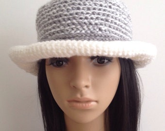 Crochet Cloche.....Crochet  Hat..... Crochet Brim Hat....Winter Accessories... Handmade Cloche