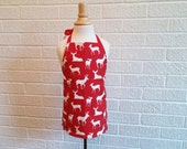 Deer Apron for Toddler - Can be Personalized, Preschool, Free Shipping, Made in The USA