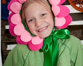 Flower Headpiece - 10 Pink Felt Flower Crowns Alice in Wonderland - Flower Fairy