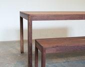 Bench FREE SHIPPING Modern Walnut Bench Seat