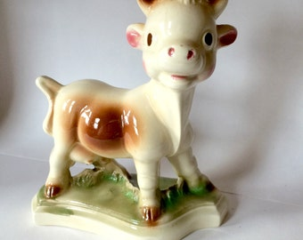 MILKY  Rempel Diamond Pottery Co.  Vintage Ceramic Dairy Cow 1950s