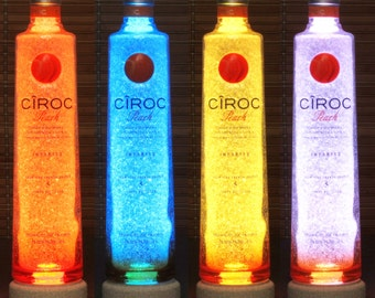 Ciroc Peach Vodka Color Changing RGB LED Remote Controlled Bottle Lamp Bar Light French Vodka
