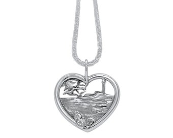 Sterling Silver Beach Heart
