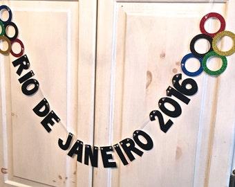 Rio De Janeiro 2016 Olympics Banner -- Olympics Party decoration / Photo Prop / Olympic Spirit