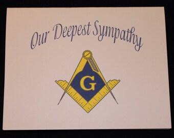 Masonic Blank sympathy Note Card